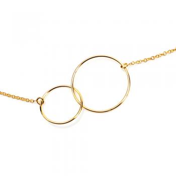 Collier cercles  petit modèle Or jaune ou Or blanc
