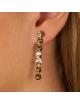 Bijou femme boucles d'oreilles 7 petits ronds froissés