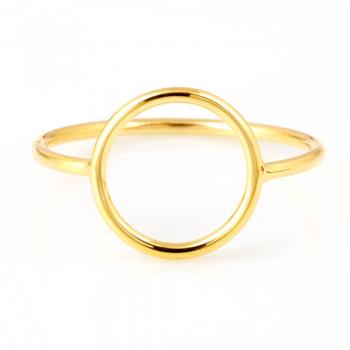 Bague ajourée rond  Or jaune ou Or blanc 9 carats