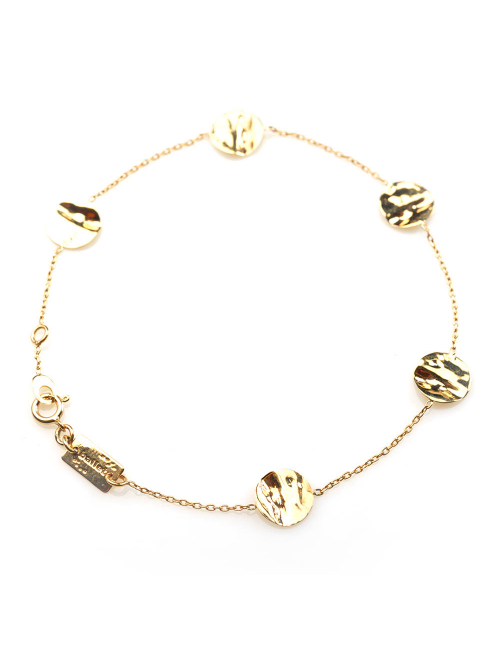 Bracelet Sultane 5 petits carrés froissé satiné