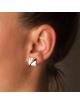 Bijou femme boucles d'oreilles carré froissé