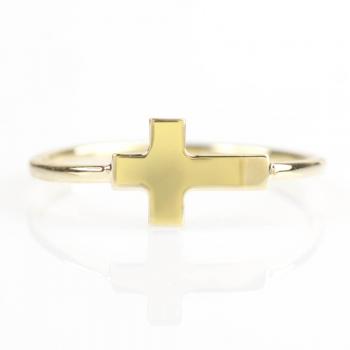 Bague croix Or jaune ou Or blanc 9 carats
