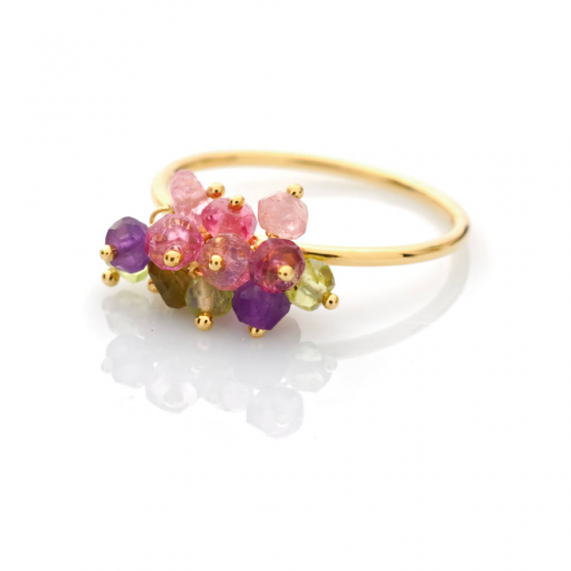 Favori Bijou femme Or : Bague Pierres fines multicolores TV23