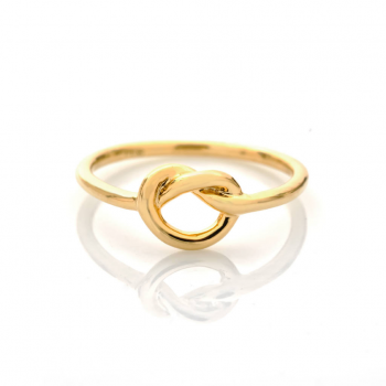 Bague noeud marin Or jaune ou Or blanc 9 carats