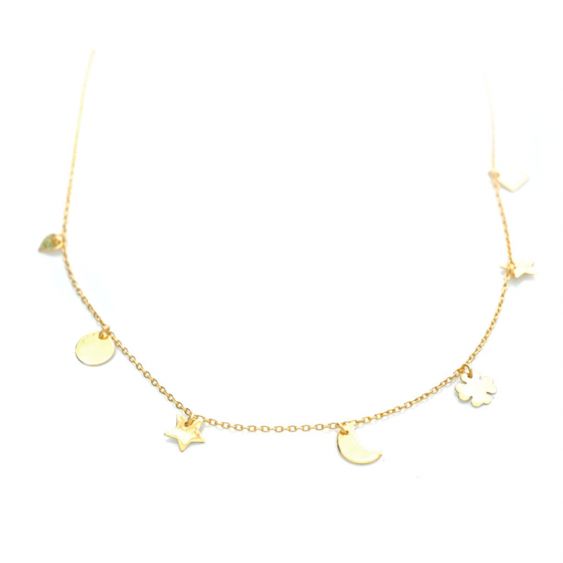 Bijou femme bracelet 7 motifs Or jaune ou Or blanc