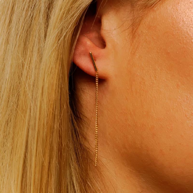 Boucle d'oreille femme avec chaine