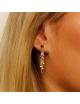 Bijou femme boucles d'oreille étoile et chaînettes étoilées en Or jaune ou Or blanc