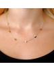Bijou femme collier 7 petits ronds ajourés en Or jaune ou Or blanc