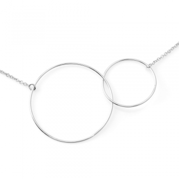 Collier cercles grand modèle Or jaune ou Or blanc