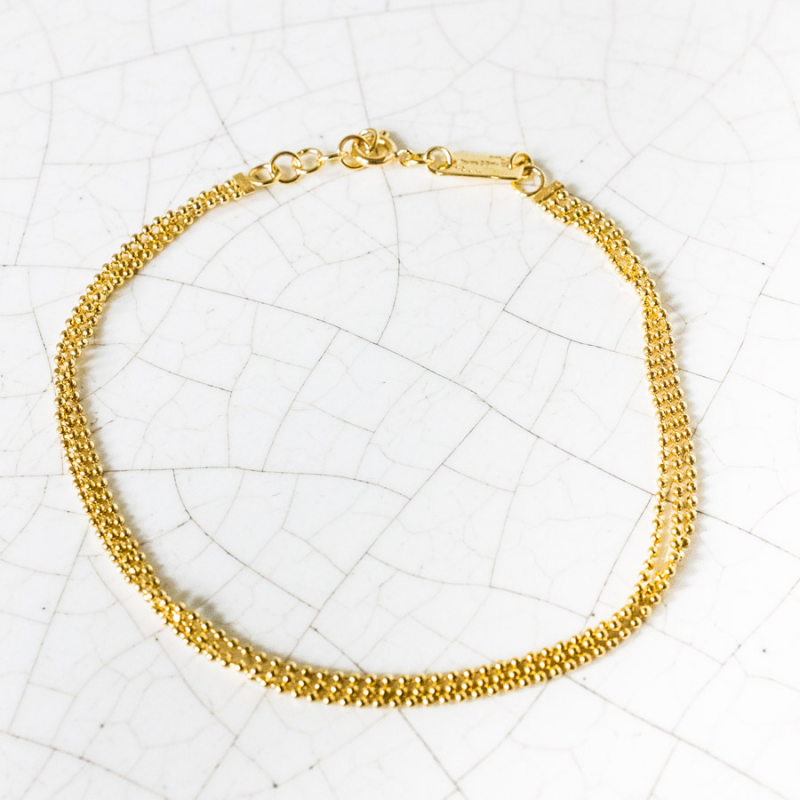 Bracelet chaine boule facetée en Or jaune ou en Or blanc