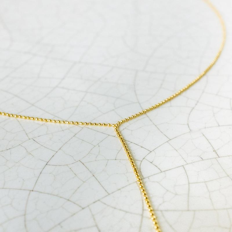 Collier cascade en Or jaune ou en Or blanc petit modèle
