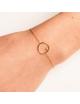 Bracelet cercle fil rond  serti d'un diamant