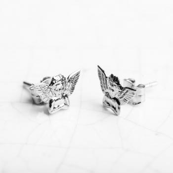 Boucles d'oreilles anges en Or jaune ou Or blanc