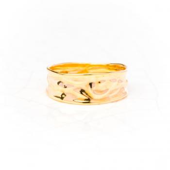 Bague en or froissé Or jaune ou Or blanc 9 carats