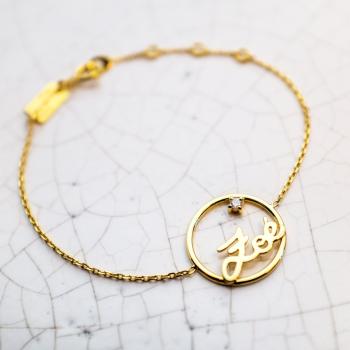Prénoms personnalisés Bracelet chaîne de 179€ à 209€