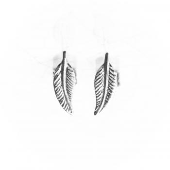 Boucles d'oreilles plume en Or jaune ou Or blanc