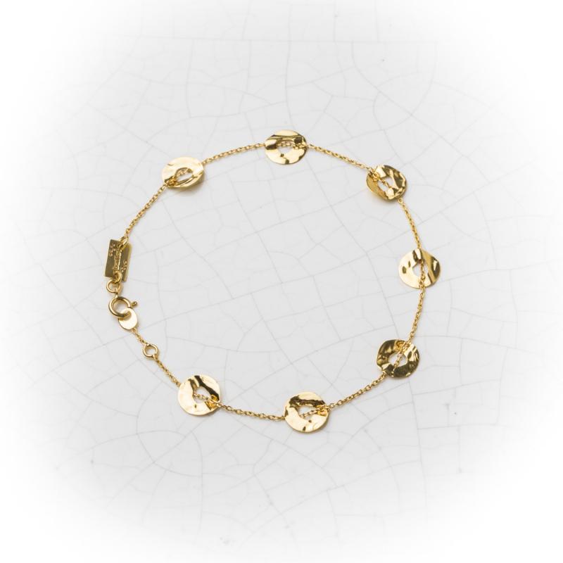 Bracelet 7 ronds froissés en Or jaune ou Or blanc
