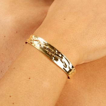 Bracelet froissé Or jaune ou Or blanc 9 carats