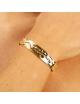 Bijou femme, bracelet froissé, or jaune et blanc, 9 carats