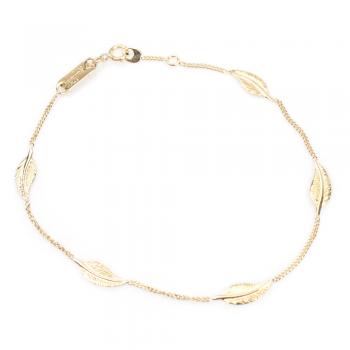 Bracelet  5 petites plumes Or jaune ou Or blanc