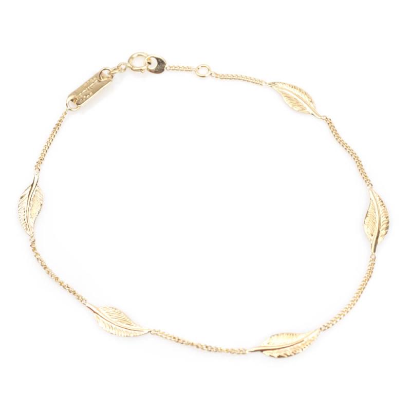 Bijou femme bracelet  5 petites plumes