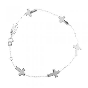 Bracelet  5 croix plates Or jaune ou Or blanc