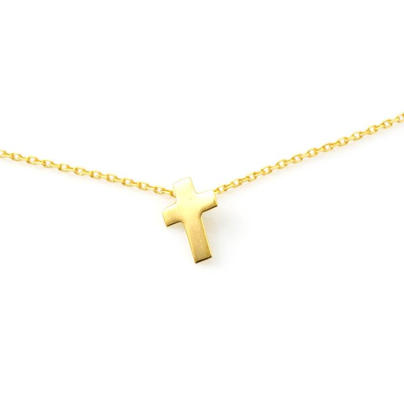 Bijou femme collier  croix plate